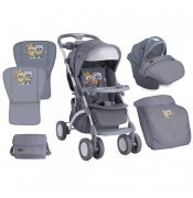 Bertoni Kolica Apollo Set Grey Baby Owls - 10020911729