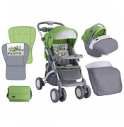 Bertoni Kolica Apollo Set Green & Grey Car - 10020911714