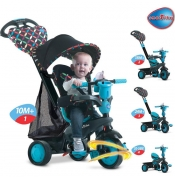 Smart trike tricikl Boutique Plavi 4 u 1 - 1595100